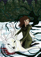 Alina and the Stag by LuHander