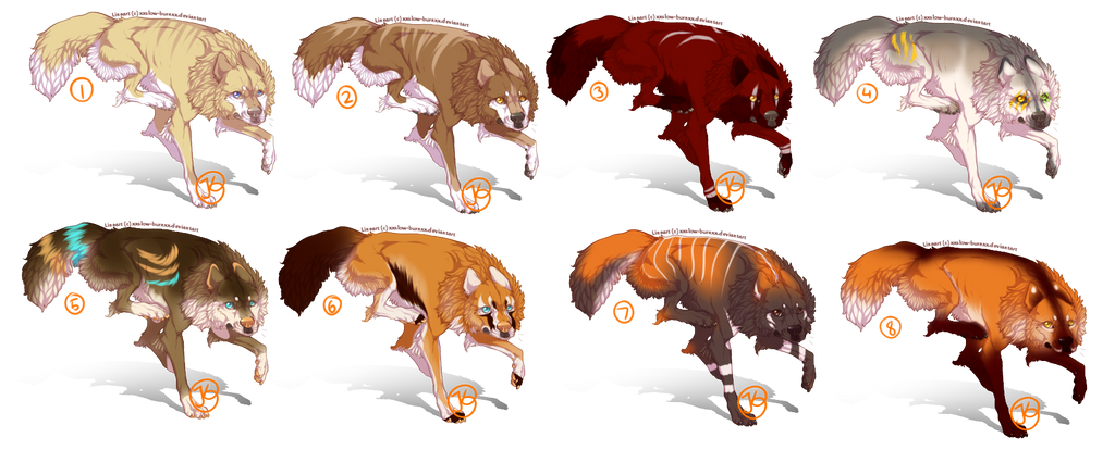 Adopts wolves (Open) by jenny96ist-adopts