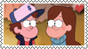 Dipper X Mabel Stamp by CandyPom