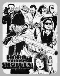 Hobo with a Shotgun -BnW-