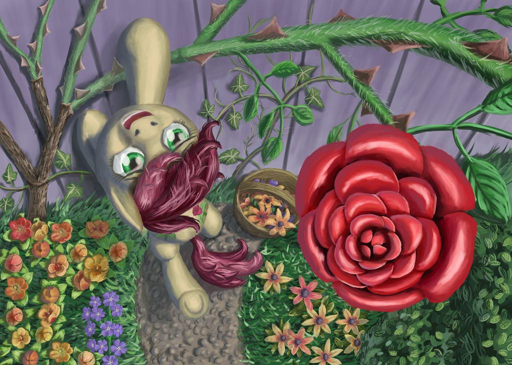 In Her Garden by MoreVespenegas