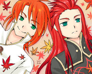 TOA: Luke and Asch by fiomama