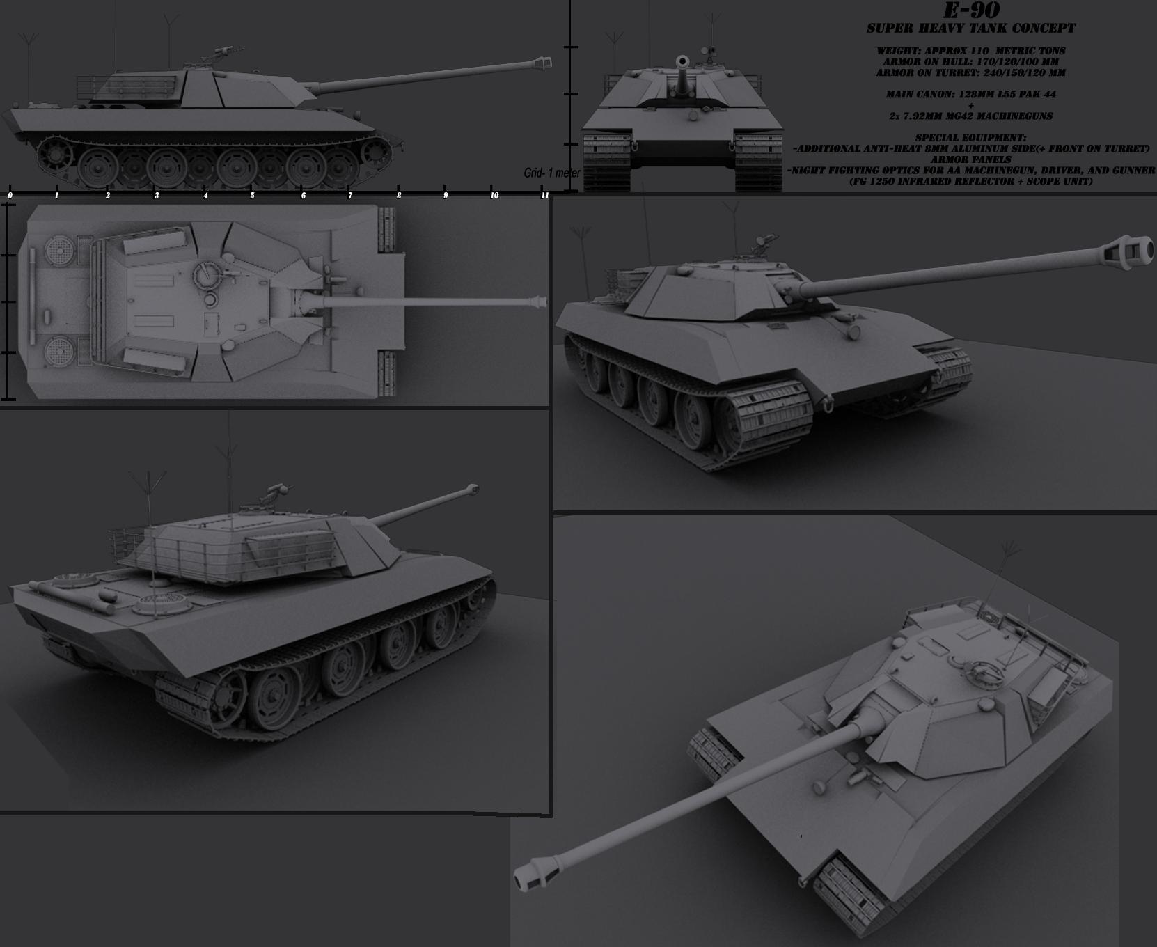 Super heavy tank design by darkheart1987 on deviantart for Cistern plans