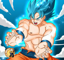Son-Goku SSGSS by GraxileArtCafe
