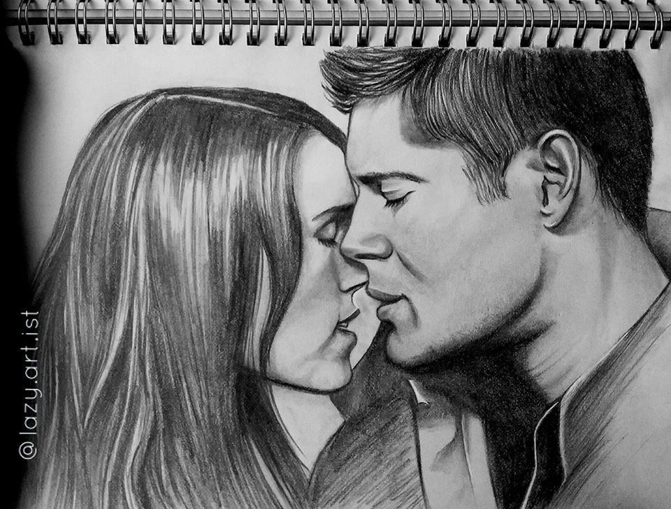 Dean Winchester x Anna Milton by lazy-art-ist