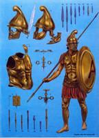 greek warrior by byzantinum