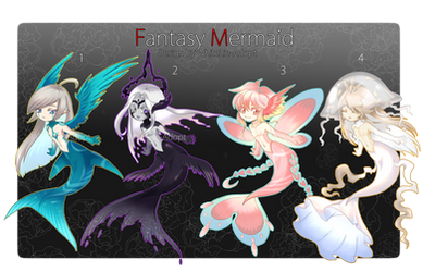 [OPEN4/4] AUCTION Fantasy Mermaid02 by WhiteLie-Adopt