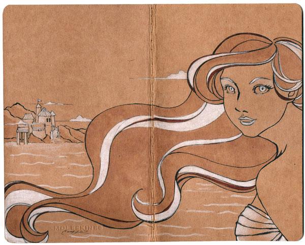 Ariel Moleskine by hammystar