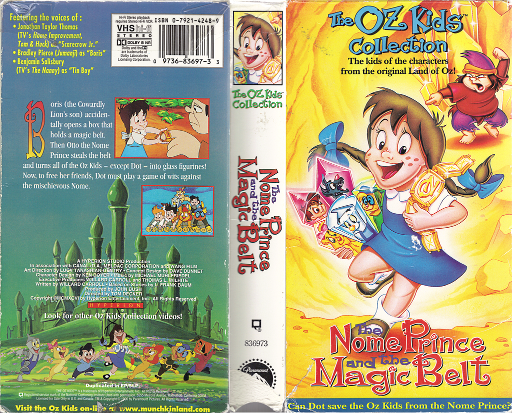 The Nome Prince And The Magic Belt Vhs Box By Sankajones