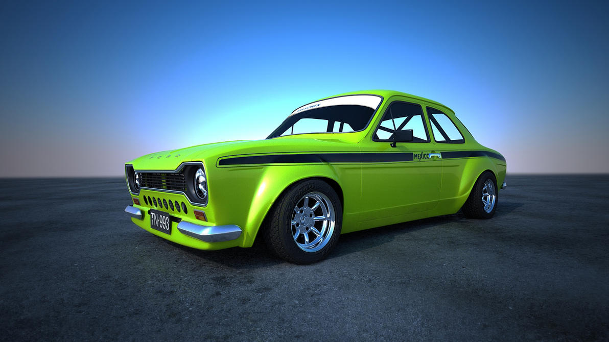 Ford Escort Mk1 Green Outside by Astros on DeviantArt