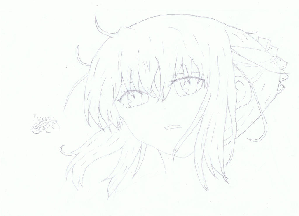 Fate/Zero, Saber Drawing 3.36 by JCDrawings