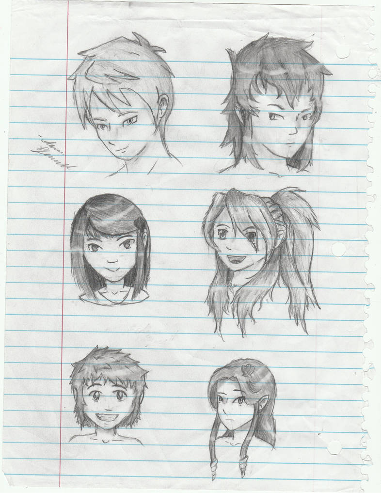 Anime sketches by fenz art