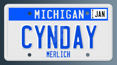 Cynday License Plate by thad415p