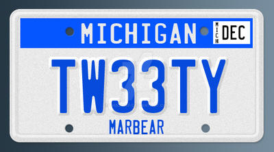 Tweety License Plate by thad415p