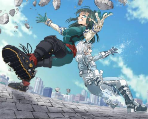 Hero Rei Todoroki and Inko Midoriya