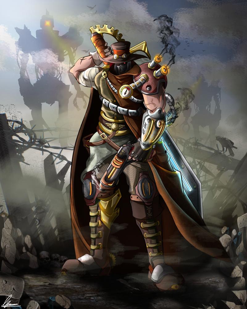 Steampunk Warrior by BourneLach