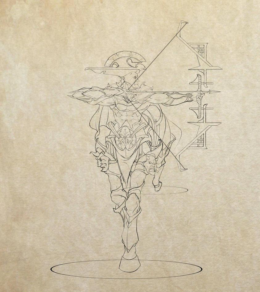 Centaur sketch by BourneLach
