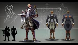 Steampunk time traveler: Robot butler