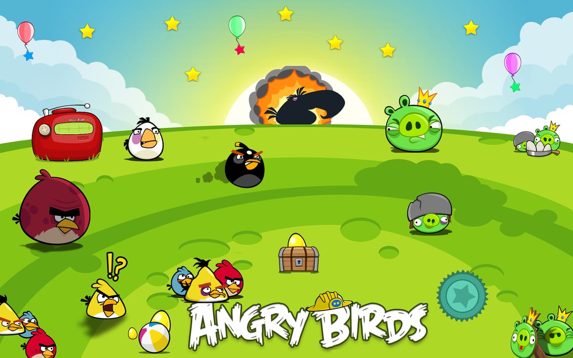angry birds wallpapervistafreddy on deviantart