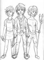 Guys of Hunger Games by bbandittt