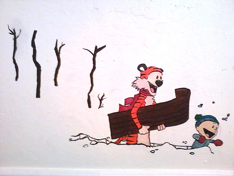 calvin and hobbes wall mural by blindbandit5 on deviantart sanity with five kids calvin and hobbes mural