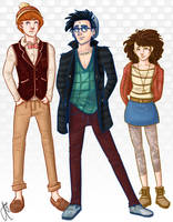 Hipster Potter and Friends by bbandittt