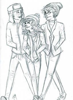 Winter Trio sketch