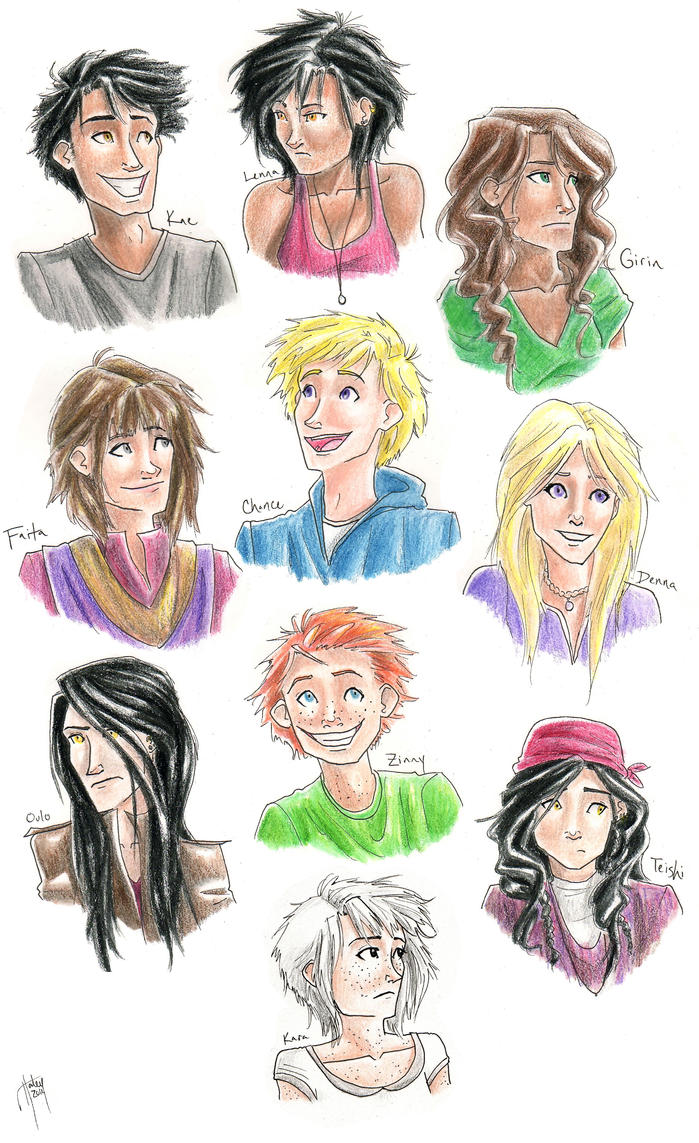 Original Characters Set by blindbandit5