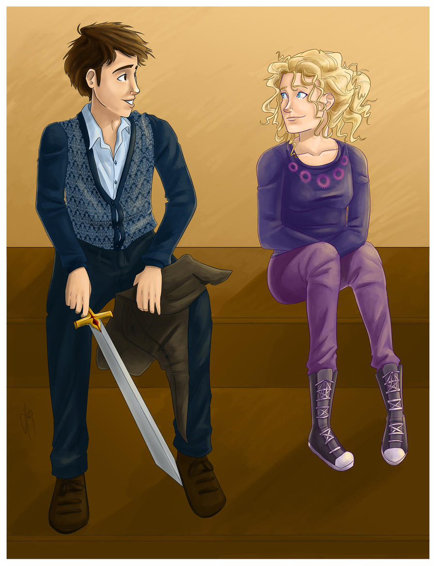 Neville and Luna commission by blindbandit5