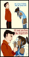 The Meeting of Korra and General Iroh by bbandittt