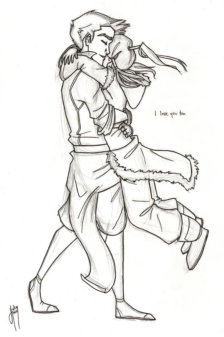 I love you too. -Makorra by blindbandit5