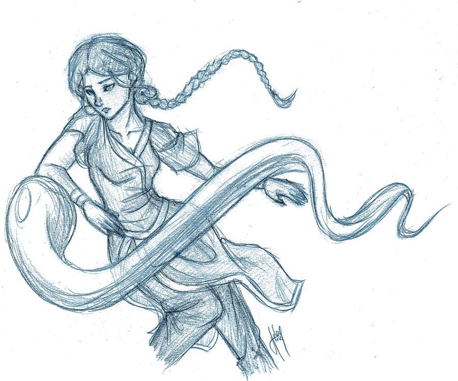 Katara doodle by blindbandit5