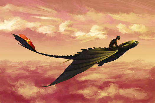Flying - Hiccup and Toothless