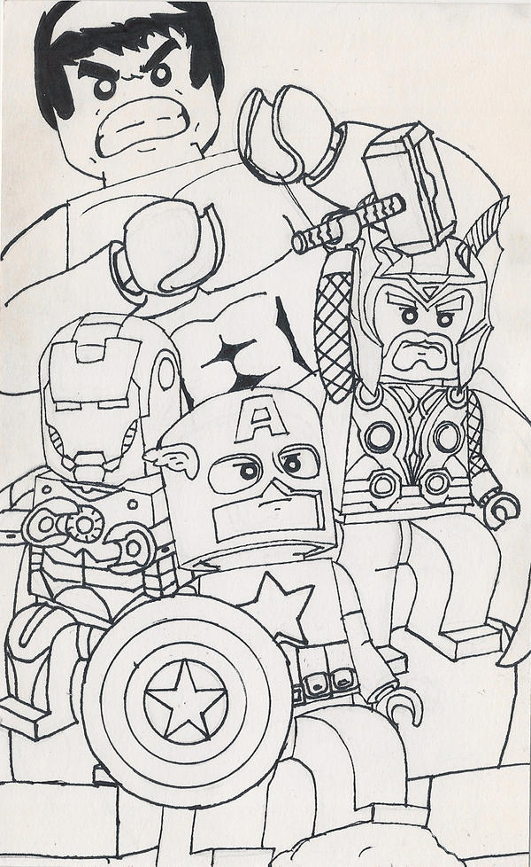 How To Draw Lego Avengers