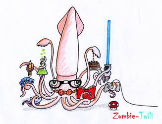 Nerdy Squid by Zombie-Twili