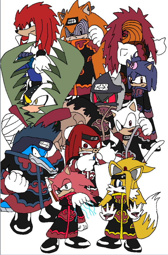 Sonic Anime Characters : Akatsuki sonic characters by tails on deviantart