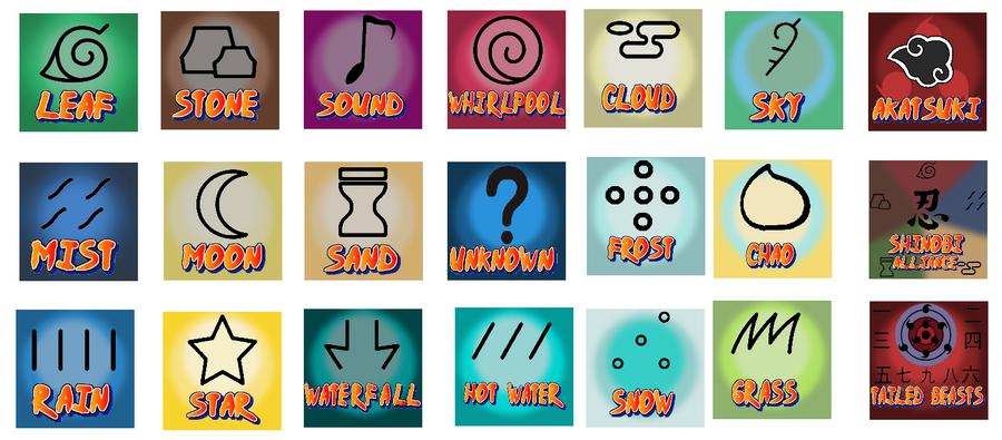 All Hidden Village Symbols