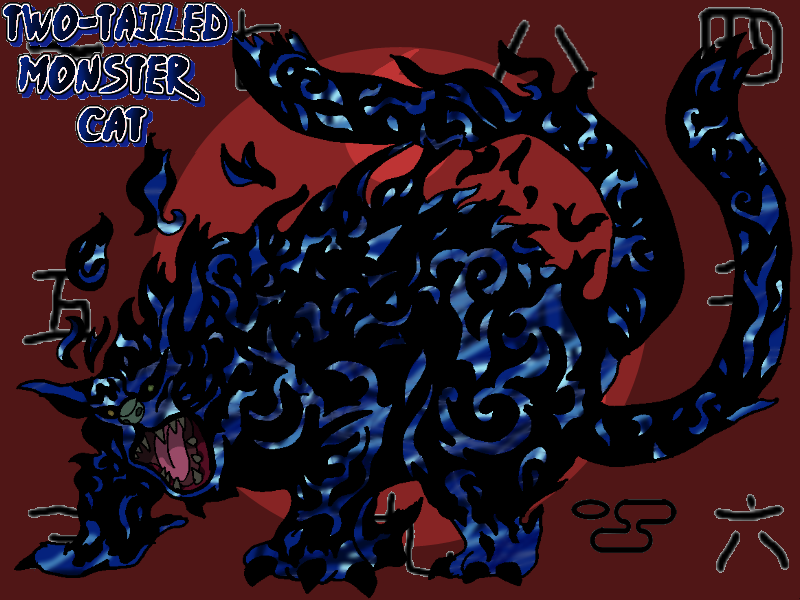 2 Tailed Monster Cat By Tails19950