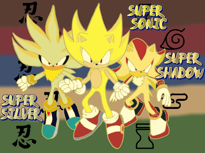 how to draw super sonic shadow and silver