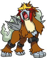 244 - Entei by Tails19950