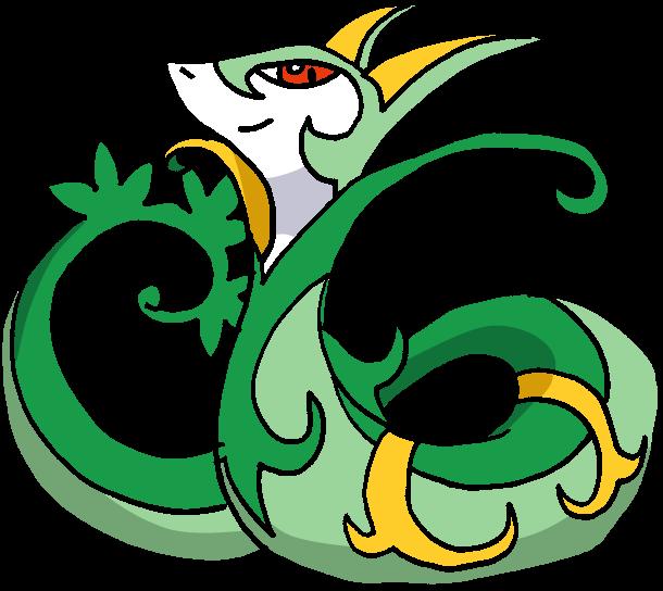Pokemon Female Serperior Images | Pokemon Images