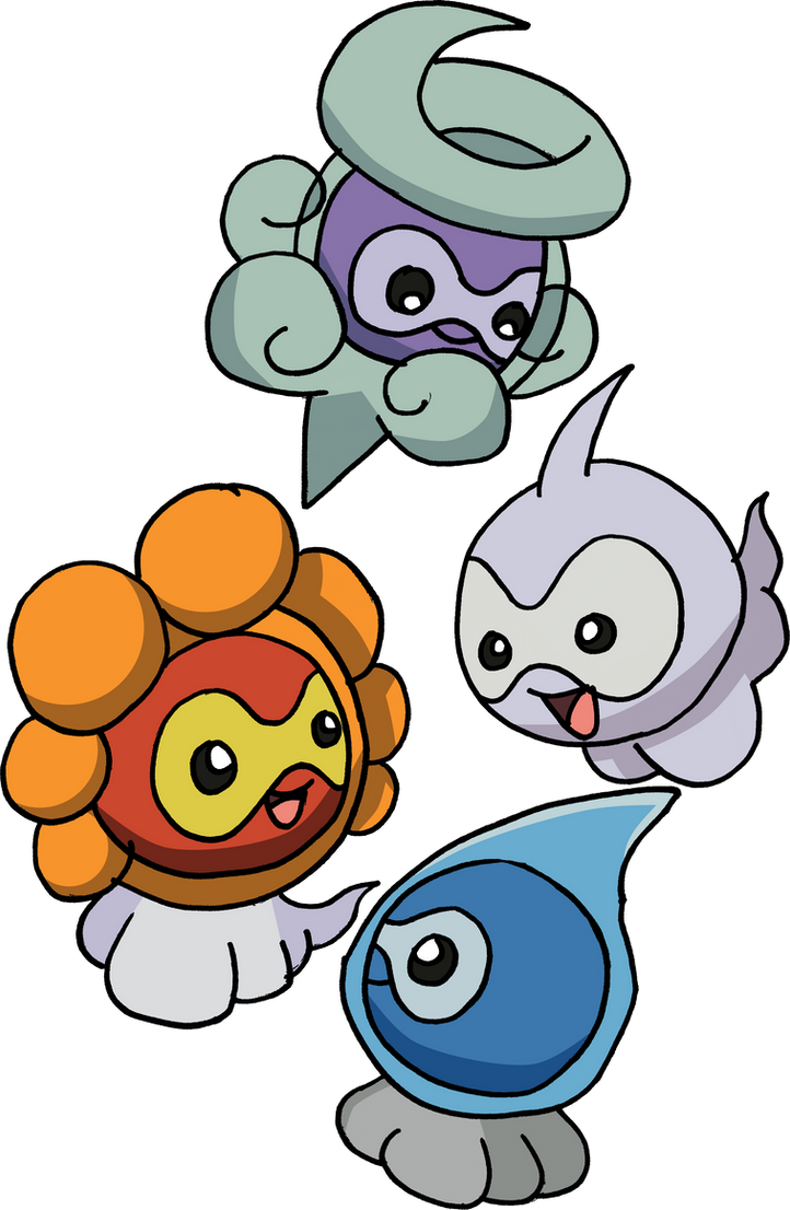 351___castform___all_formes_by_tails1995