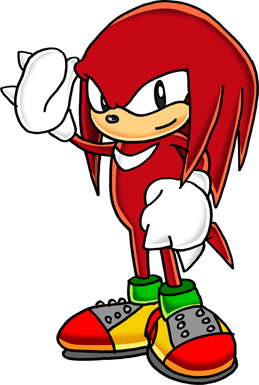 how to draw sonic and knuckles