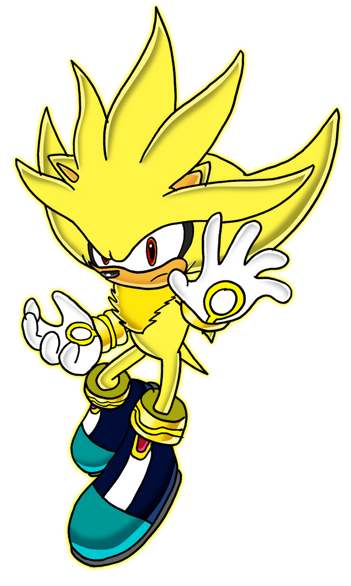 super sonic and super shadow and super silver drawings