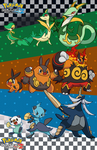 Pokemon B-W 2: Starter Pokemon Families