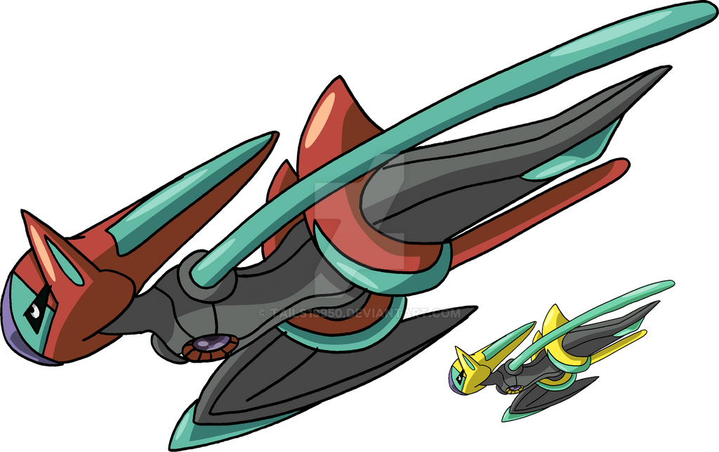 386 - Deoxys (Speed Forme) by Tails19950 on DeviantArt
