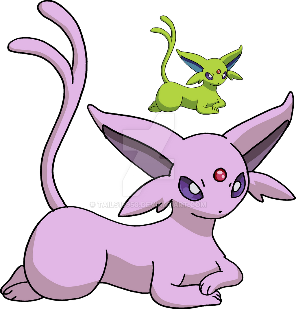 196 - Espeon - Art v.2 by Tails19950