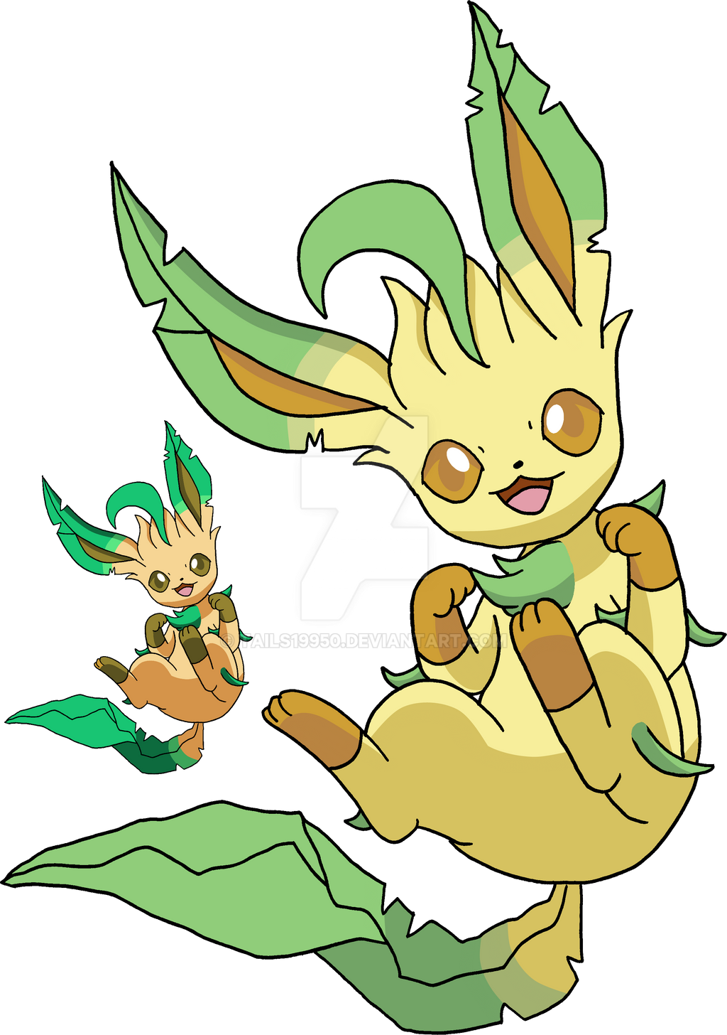 470 - Leafeon - Art v.4 by Tails19950