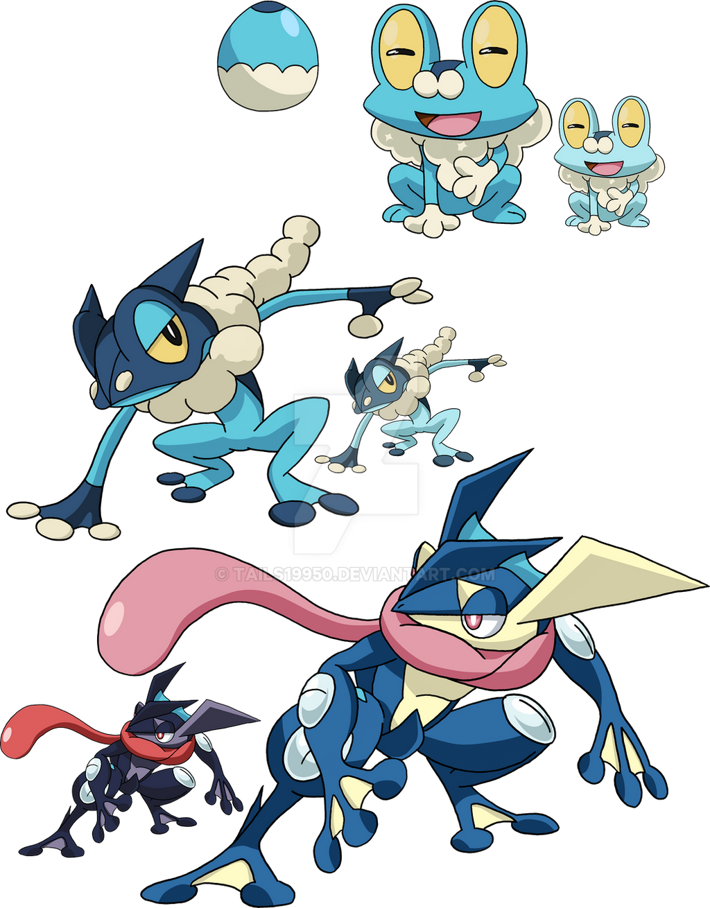 656, 657 and 658 - Froakie Evolutionary Line by Tails19950 ...