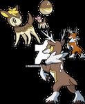 585 and 586 - Deerling (Winter) Evolutionary Line